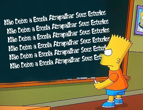 Bart escreve no quadro negro sobre Lost